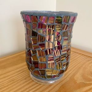 Mosaic Stained Glass Candle Holder